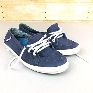 Can Blue Tie Sneakers Sz 6.5